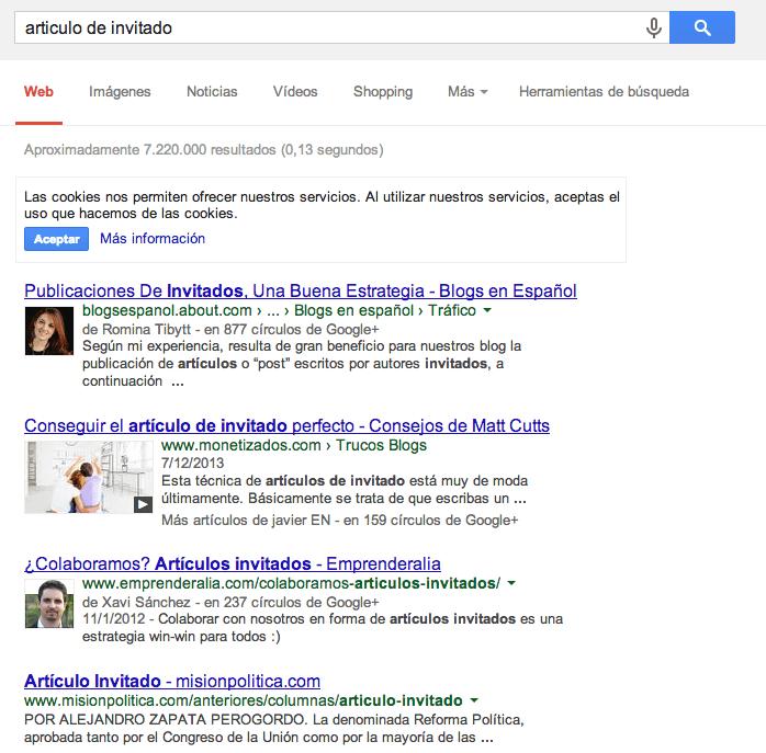 ejemplo resultados google