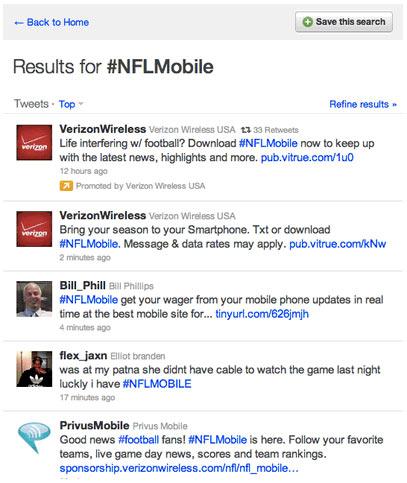 twitter ads temas promocionados